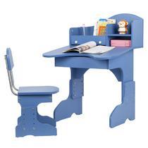 粉红色天蓝色人造板光面隔板密度板/纤维板三聚氰胺板框架结构拆装儿童简约现代 学习桌