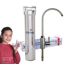 金属色金属银陶瓷滤芯终端净水活性炭直饮净水机 净水器