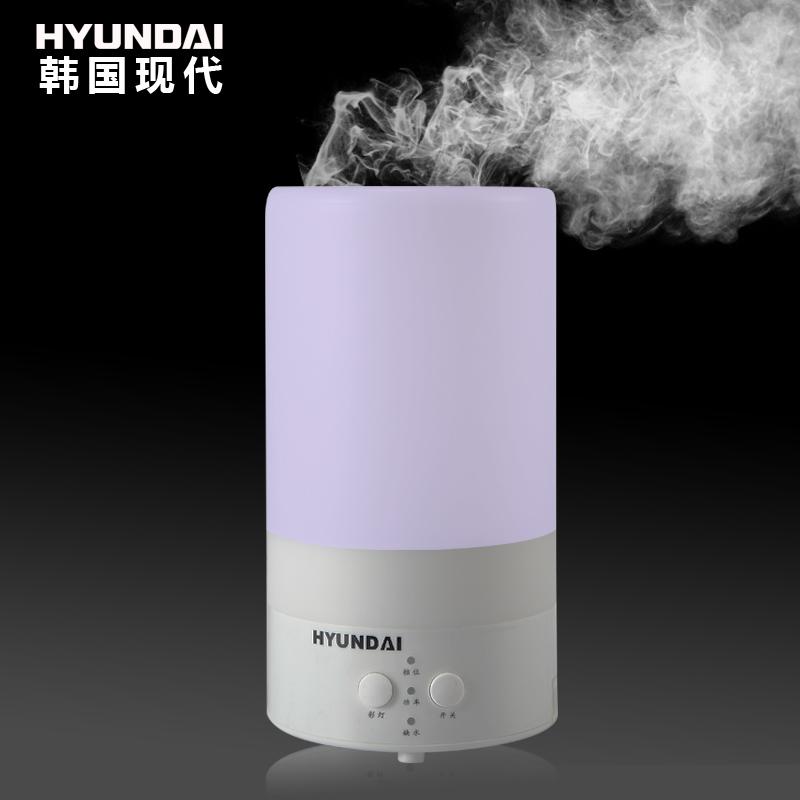 韩国现代琴键式出雾交流电以下超声波香薰纯净加湿家用经典柱状加湿器