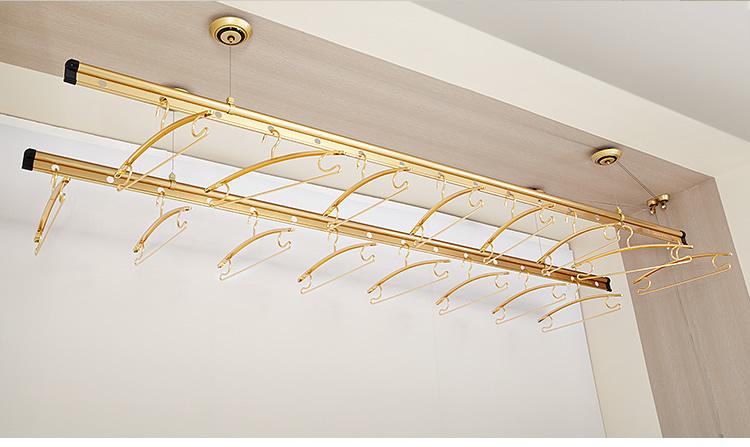 好太太 金色银色阳台升降式铝双杆式 d-1035晾衣架