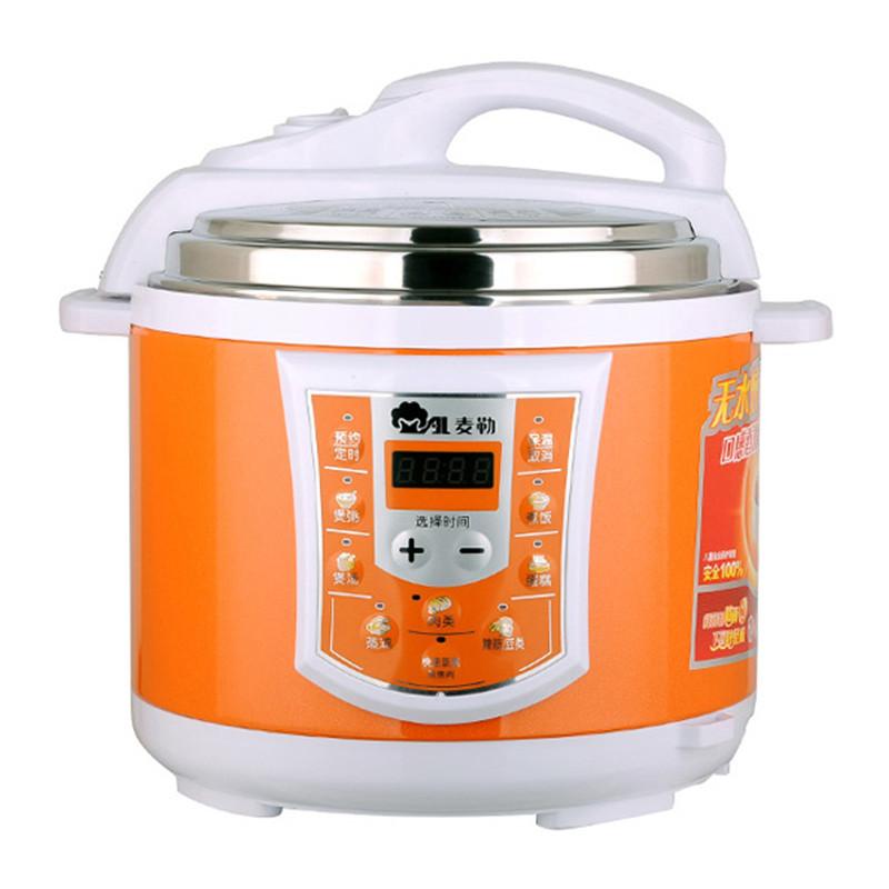 麦勒 彩钢电脑版 麦勒(MAL)SH50-90C电脑版电压力锅双胆(橙色)电压力锅
