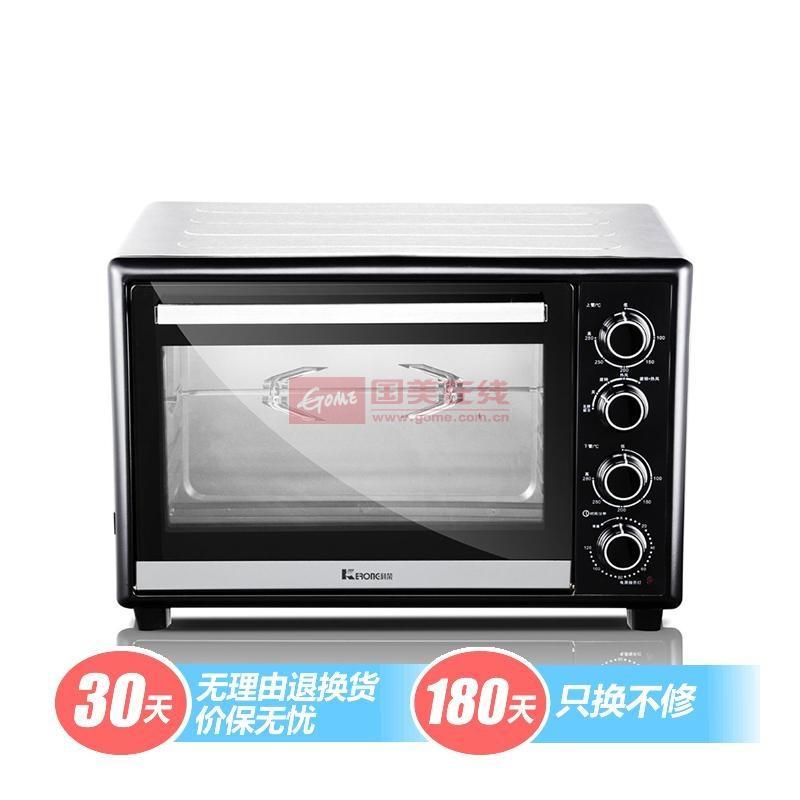 科榮 臺式不銹鋼下開門持續加熱鍍鋅板機械式電烤箱 電烤箱