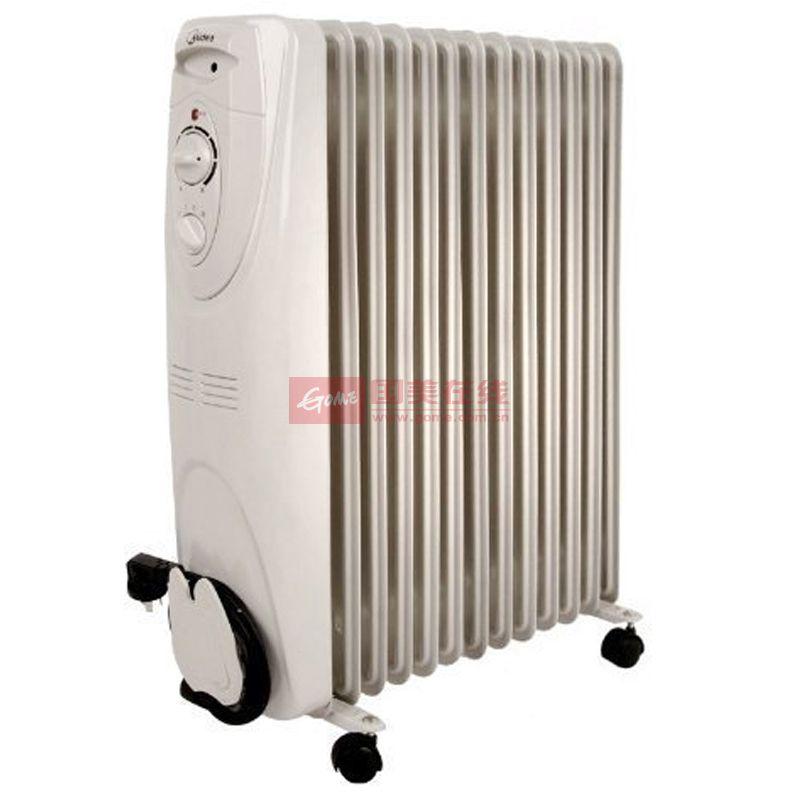 美的 中端高性价比机械式三档50HZ电热油汀 取暖器