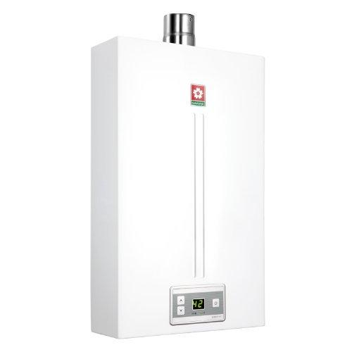 櫻花 強排式天然氣非防凍型20KW10升/分電脈沖自動點火LED恒溫機械版2級 熱水器