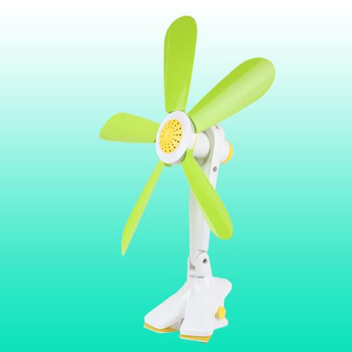 中联绿白一档左右摇头机械式夹壁扇电风扇