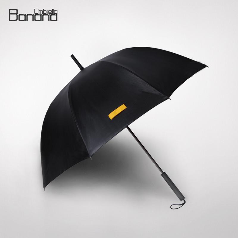 黑色手动遮阳伞长柄伞成人遮阳伞