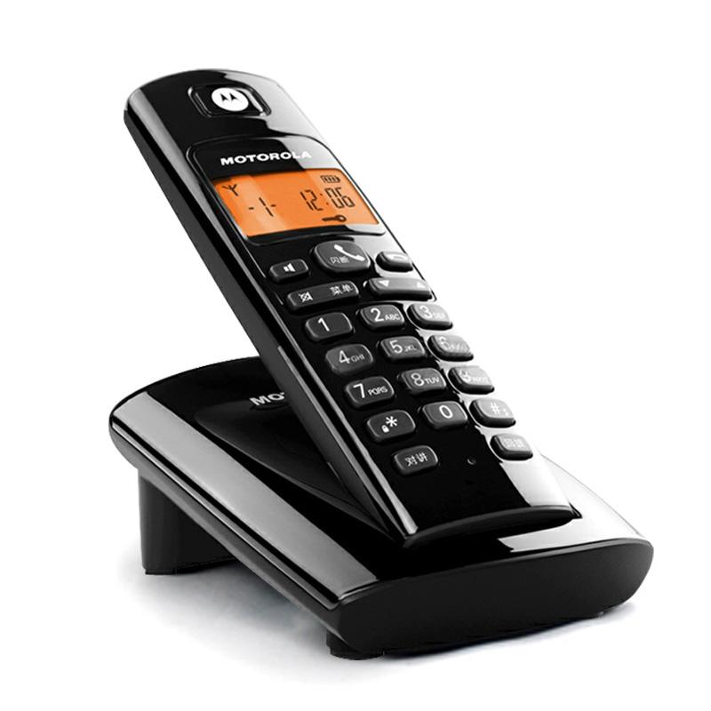 摩托羅拉 黑色單機銀色單機數字無繩座式子母機全國聯保 電話機