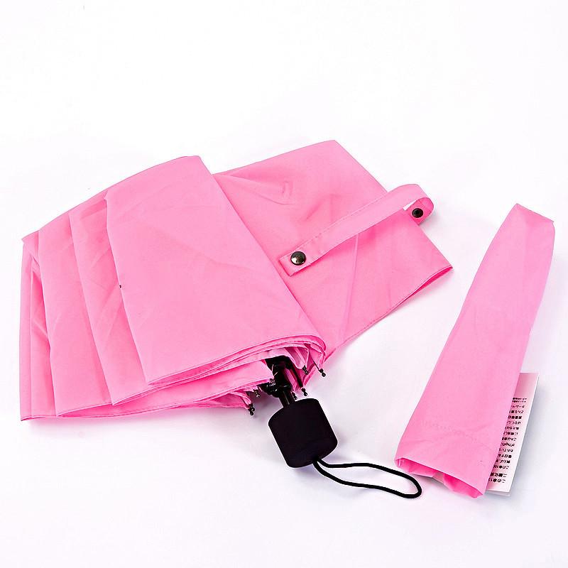 多朵手动碰击布晴雨伞三折伞成人遮阳伞