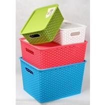 白色绿色蓝色红色塑料 收纳盒