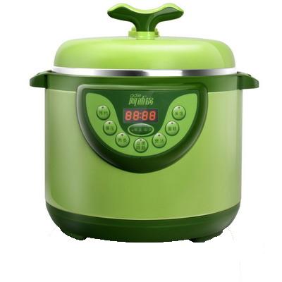 洛貝 豆芽綠全塑面蓋單膽電腦版 電壓力鍋
