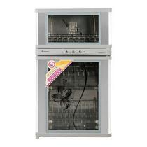 不锈钢色二星级臭氧消毒钢化玻璃机械控制 消毒柜