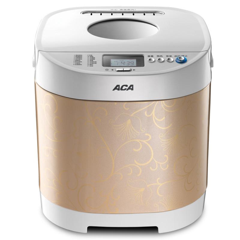 北美电器 白色+金色单搅拌叶片金属断电记忆功能保温电热管加热电脑式 面包机