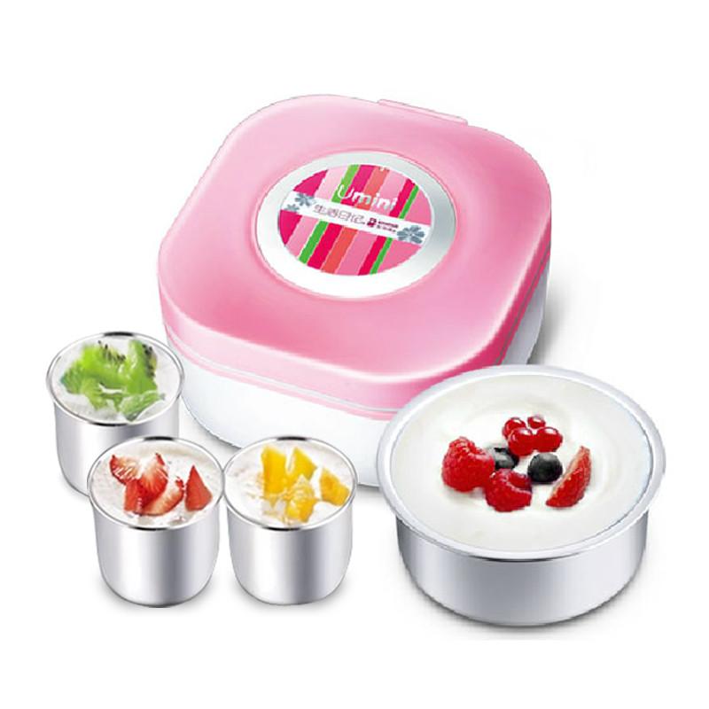 生活日記 粉色酸奶不銹鋼全自動 酸奶機