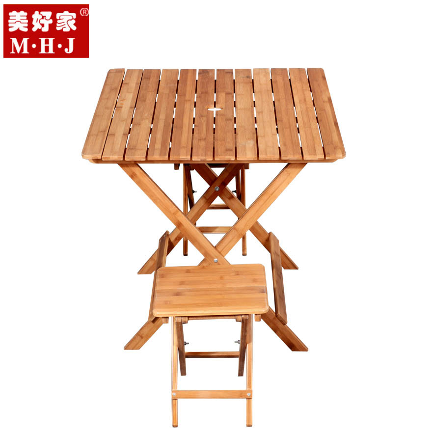 美好家 竹簡約現代 折疊桌