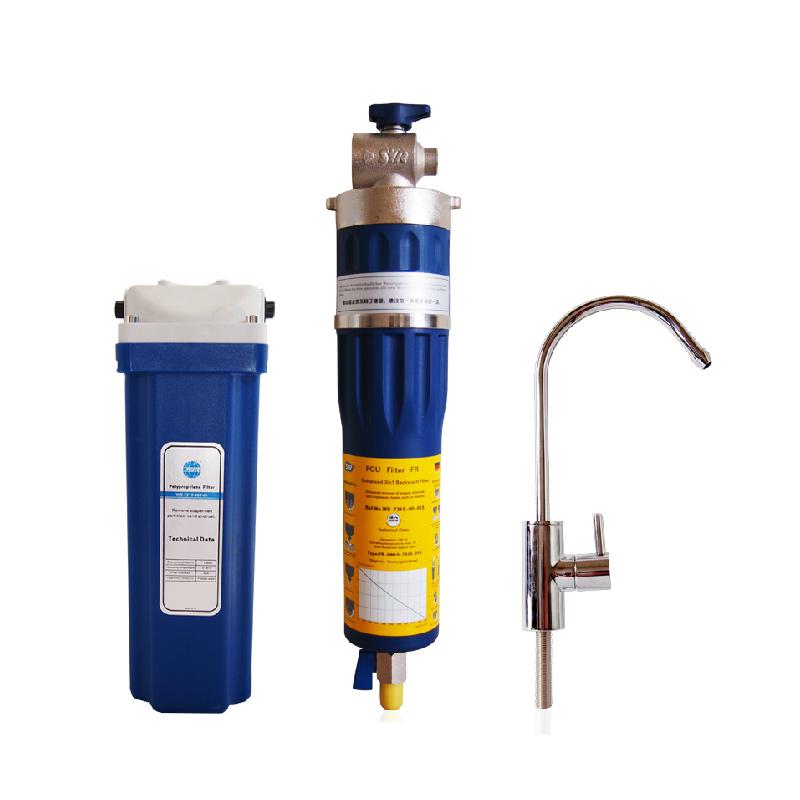 漢斯希爾 自動斷水活性碳0.01微米3級廚房飲用水(直接飲用)0℃-30℃市政自來水凈水機 凈水器