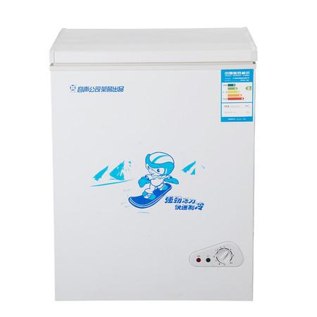 容声友田 白色冷藏冷冻42dB110L有2级定频亚热带型(ST)单门R600a直冷顶开式卧式冰柜机械控温 冷柜