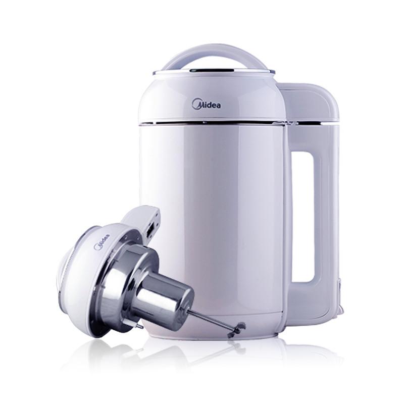 美的 白色干豆湿豆米糊果蔬全国联保不锈钢1.5L以上底盘加热 豆浆机