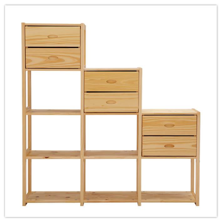 喜夢寶 原木色松木成人簡約現代 書柜
