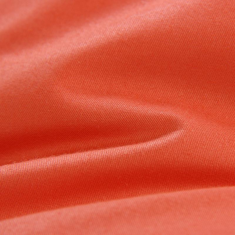 爱斯基摩人桔色()斜纹布棉布羽绒长方形枕头