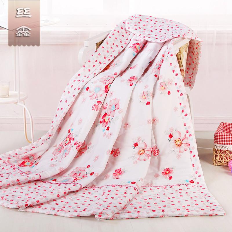 丝鑫贴布绣超细纤维空调被夏凉被提花普通全棉化纤被子