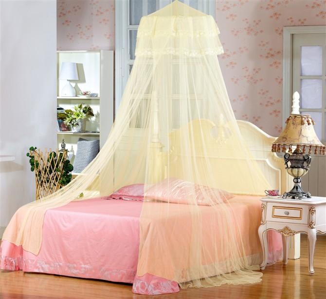 奥科尼刚铁丝吊挂圆顶蚊帐通用蚊帐