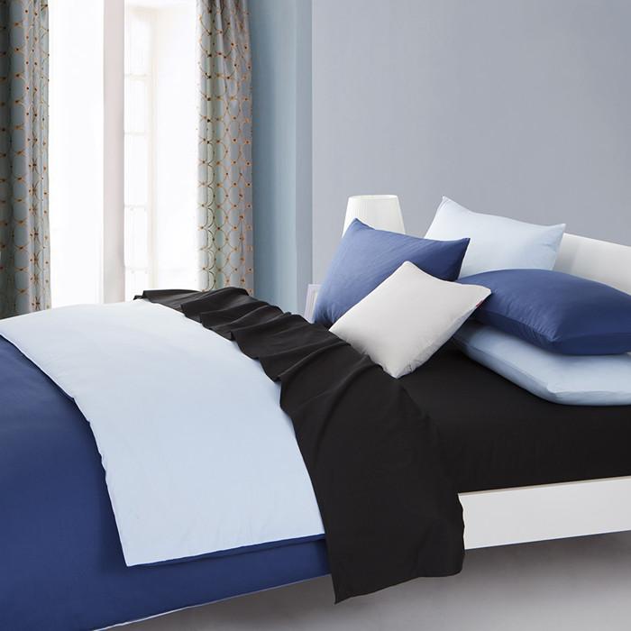 慢漫简约现代斜纹纯色床单式简约风床品件套四件套