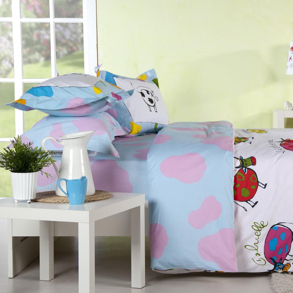 多喜愛 床笠款床單款簡約現代涂料印花平紋布卡通動漫床單式卡通風 床品件套四件套