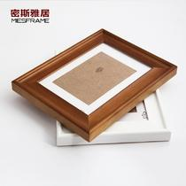 白色胡桃色黑色樱红色木相框长方形北欧/宜家 相框