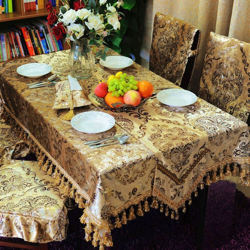澳而春 紫红色金色布植物花卉欧式 jsbhrzb-11桌布
