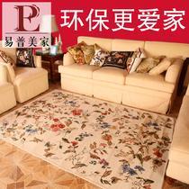 化纤可手洗可机洗欧式腈纶植物花卉长方形欧美机器织造 ED005地毯