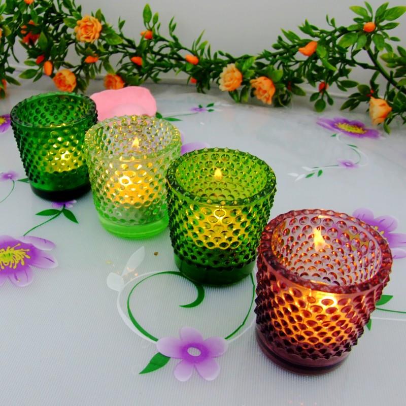 萬得福 玻璃杯狀蠟燭歐式 P79G4燭臺