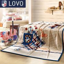 拉舍尔毛毯冬季美式乡村 毛毯