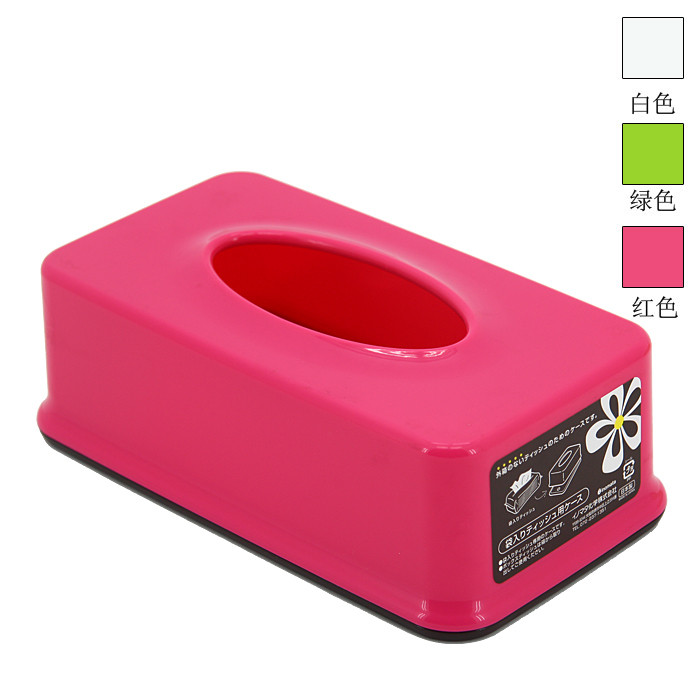 浪漫?;?红色白色绿色 纸巾盒