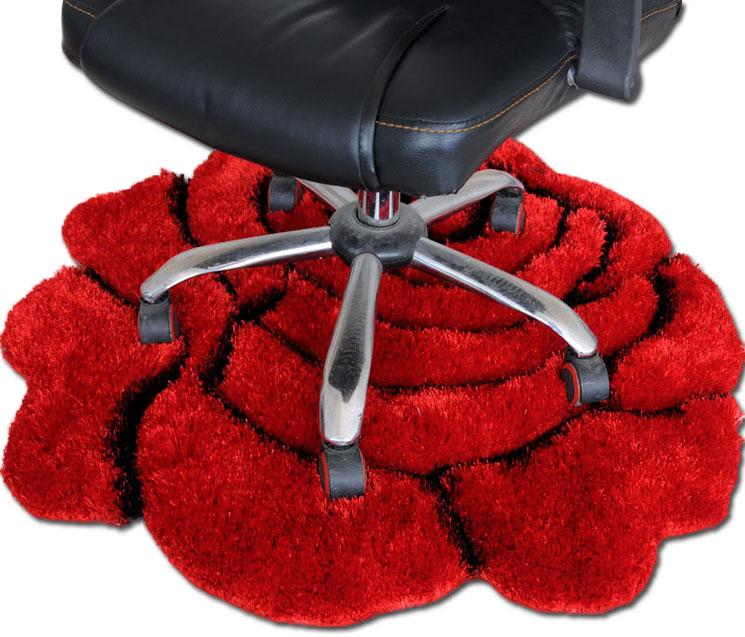 恒亞斯地毯 灰色紅色紫色粉色化纖簡約現代滌綸植物花卉圓形日韓機器織造 地毯