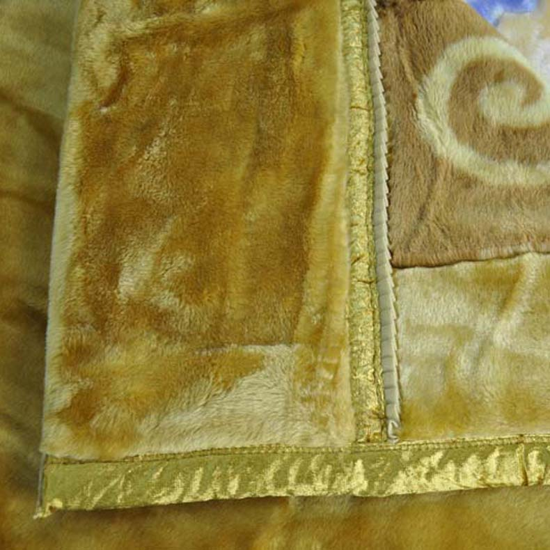 美雅 5%拉舍尔MT2023-5.8-2毛毯一等品冬季植物花卉简约现代 毛毯