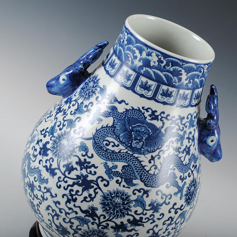 鼎众陶瓷赠送旋转底座陶瓷台面花瓶中号新古典花瓶