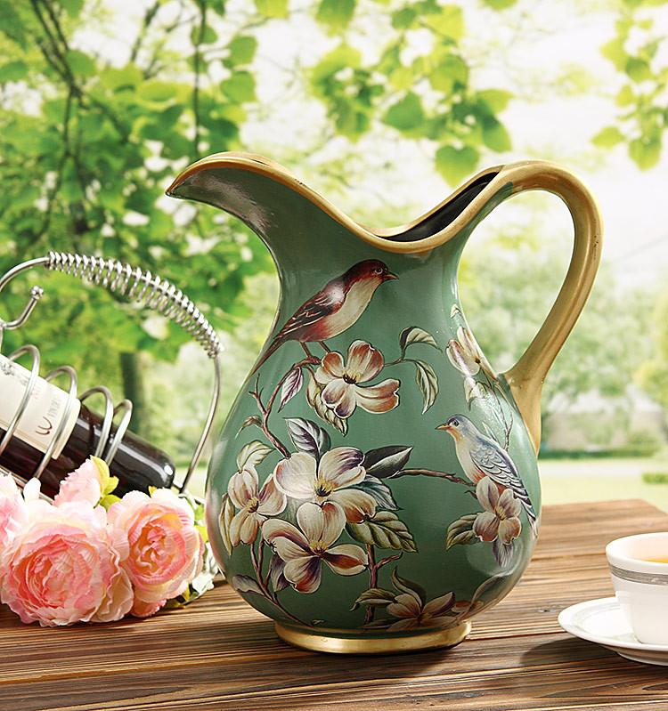 光影艺轩水笙手绘花瓶陶瓷台面花瓶大号欧式花瓶