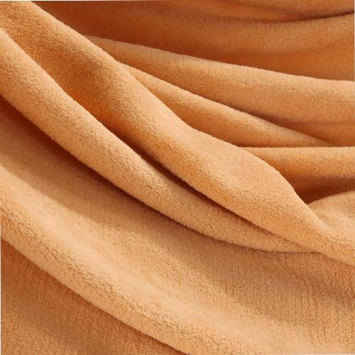 欧莱缦拉舍尔毛毯优等品春秋纯色简约现代毛毯
