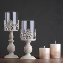 玻璃杯状蜡烛新古典 烛台