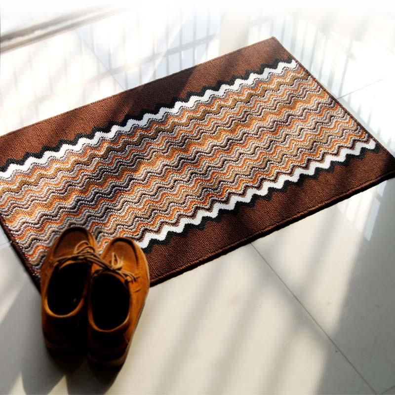 康玟萊 絨面門廳條紋簡約現代機器織造 地墊