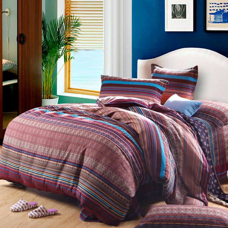 皇家皇朝 全棉所有人群四件套床单式欧洲风格磨毛 阳光假日床品件套四件套