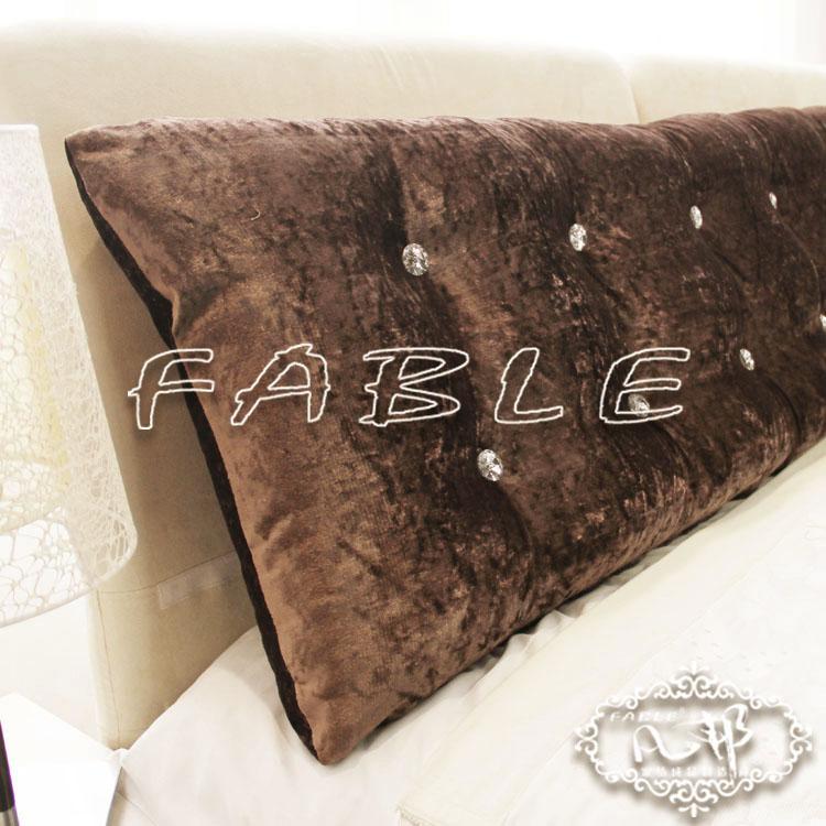 凡邦 布【凡邦FABLE】包郵 床頭大靠墊 床頭軟包雙排扣絲絨 可折洗 定做靠墊化纖純色歐式 靠墊