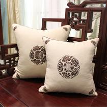布靠垫化纤几何图案现代中式 抱枕