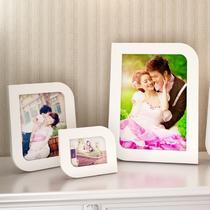 白色粉红色粉橙色木相框异形简约现代 相框