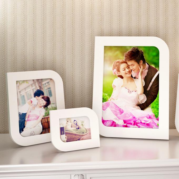 天字一號 白色粉紅色粉橙色木相框異形簡約現代 相框