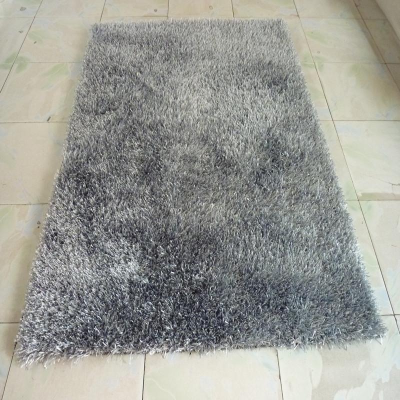 昕佳琪蚕丝现代中式纯色长方形田园手工织造地毯