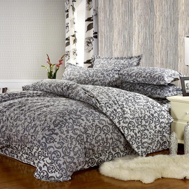赫拉 全棉通用四件套床單式田園風格活性印花 阿曼特床品件套四件套