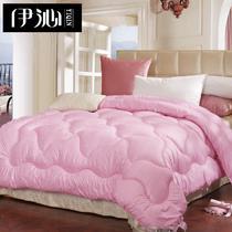 粉色米黄色绗缝超细纤维冬季一等品化纤 被子
