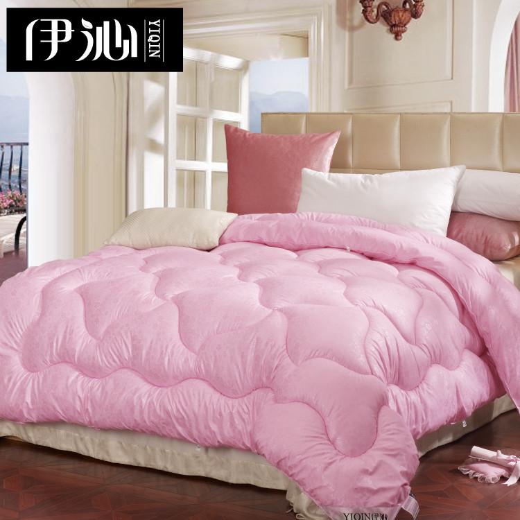 yiQin 伊沁 粉色米黄色绗缝超细纤维冬季一等品化纤 被子