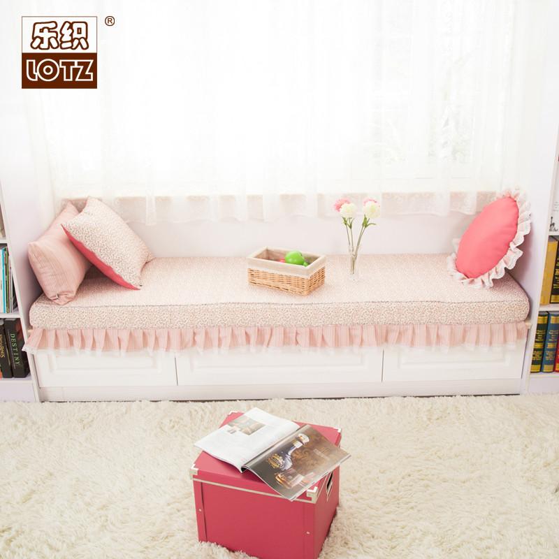 乐织布植物花卉田园-飘窗垫
